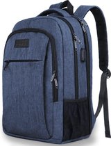 TravelMore Daily Carry XL Backpack - 17,3 inch Laptop Rugzak - Dames/Heren - 36L - Waterafstotend - Blauw