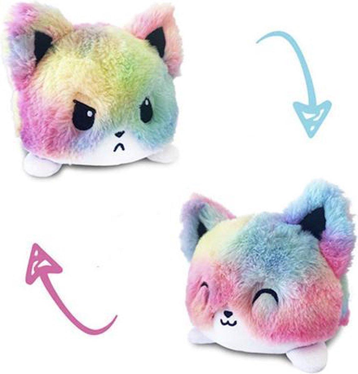 Mood knuffel   fidget toys   emotie knuffel   cat rainbow