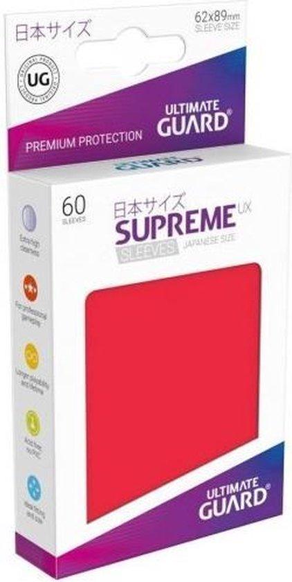 Afbeelding van het spel Supreme UX Sleeves Japanese Size Red (60)