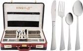 KINGHOFF 3515 - luxe bestekset koffer - 72 delig - 12 persoons - Modern bestek