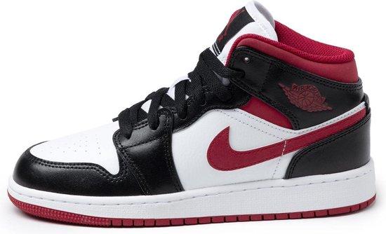 Nike Air Jordan 1 Mid (GS), White/Gym Red-Black, DJ4695 122, EUR 40