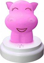 Alecto SILLY HIPPO - LED nachtlampje, nijlpaard, blauw
