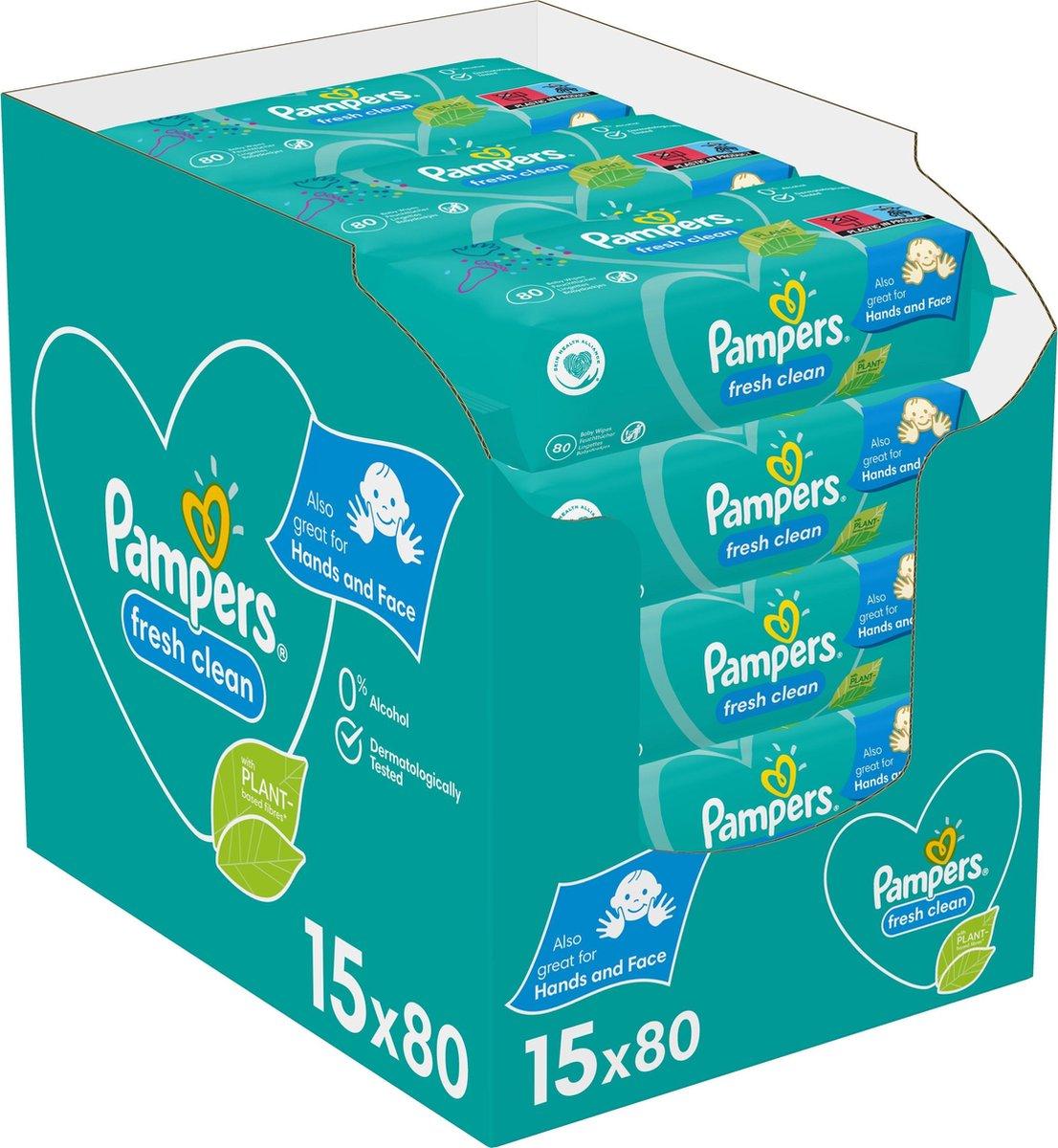 Pampers Fresh Clean Billendoekjes - 1200 stuks