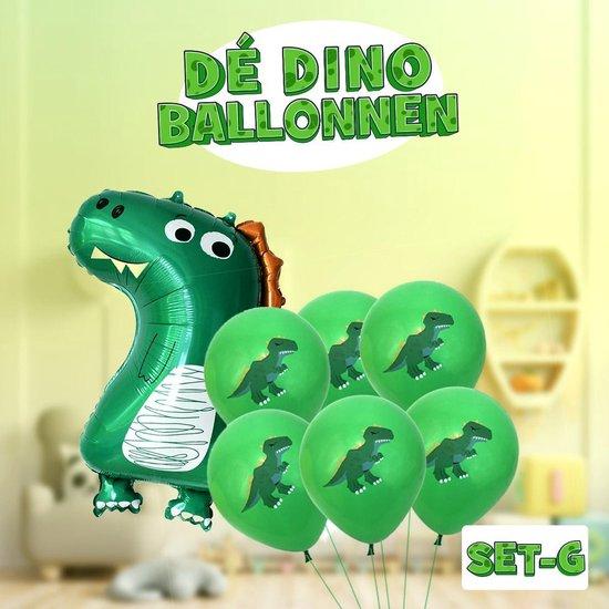 Dinosaurus ballonnen Set G (inc XXL) ! | Verschillende dino ballonnen voor op een kinderfeestje of kinderkamer! | Ook leuk als speelgoed | Op te blazen met een rietje of met helium |