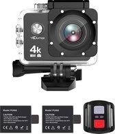 Qumax 4K Action Camera met Accessoires - Actioncam - WiFi - Waterdichte Case - Afstandsbediening - Complete Set