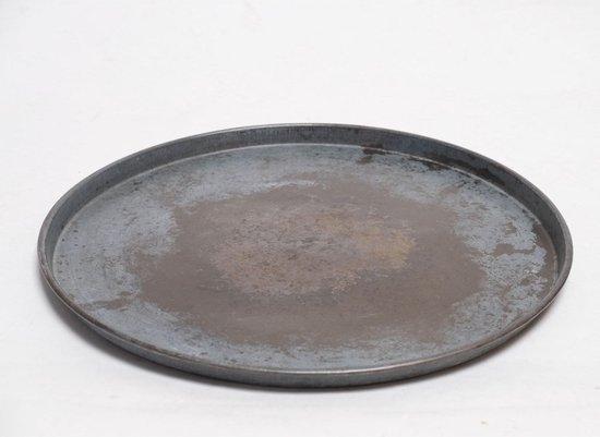 Dienblad - groot metalen platte schaal - vintage - landelijke industrieel - dienblad