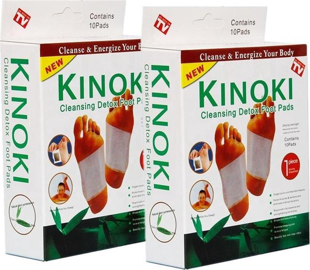 Kinoki detox voetpleisters - Detox pleisters - Ontgift het lichaam - 2x 10 stuks