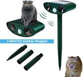 Kattenverjager - kattenschrik - kattenverjager op zonneenergie - duivenverjager - muizenverjager - marterverjager - katten afweermiddel - katten verjager voor de tuin