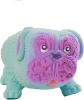 Zintuiglijke Stress Speelgoed Pug Hond Knijpen Speelgoed Decompressie Knijpen Pug-vormige Anti-Stress Speelgoed Geschenken voor Volwassenen Kinderen Blauw