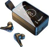 Bluetooth Oordopjes - Oordopjes Draadloos - Draadloze Oordopjes - Earbuds Wireless – Met Oplaadcase & Microfoon - Geschikt voor Samsung, Apple Iphone, Android en meer - Zwart