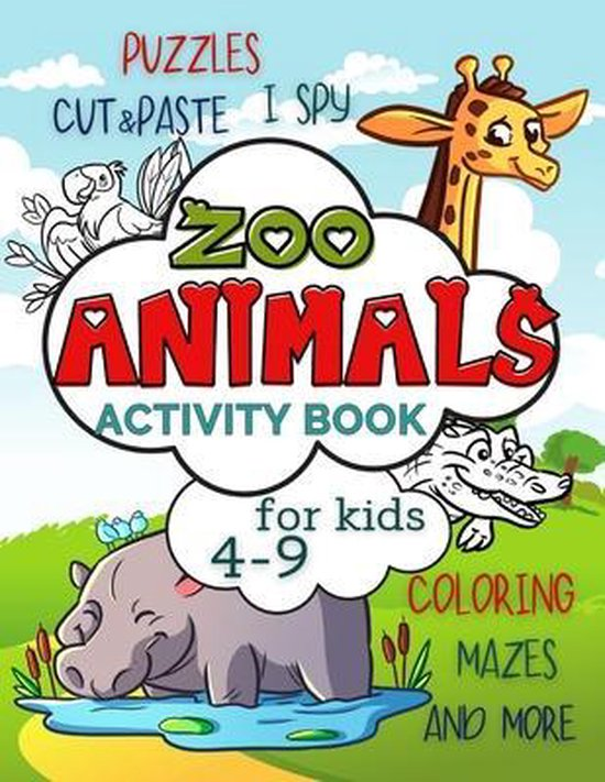 Zoo Animals Activity Book for Kids 4-9