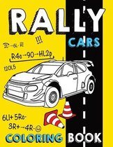 Rally Cars Coloring Book