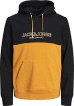 JACK&JONES JJEURBAN BLOCKING SWEAT HOOD Heren Trui - Maat XL