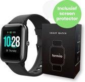 Formilo Smartwatch Dames - Smartwatch Heren - Gratis Screen Protector - Zwart