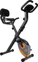 Orange Gym, X-bike opvouwbare hometrainer – incl. rugsteun, 8 weerstandsniveaus, LCD monitor, fiets