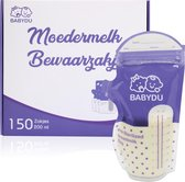 BabyDu® Moedermelk bewaarzakjes - Borstvoeding zakjes - 150 stuks