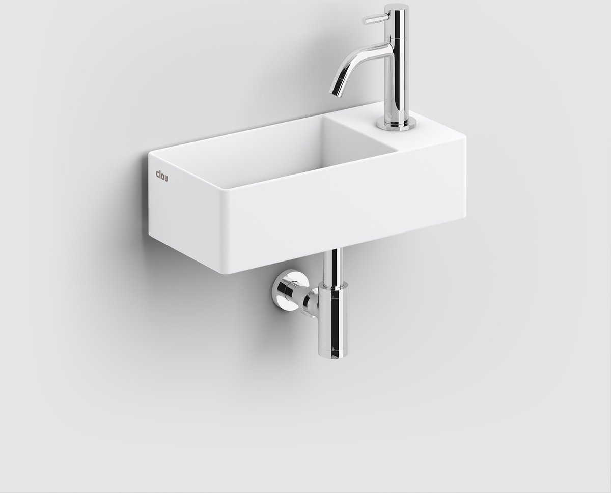 Clou New Flush 3 fontein met voorbewerkt kraangat aluite