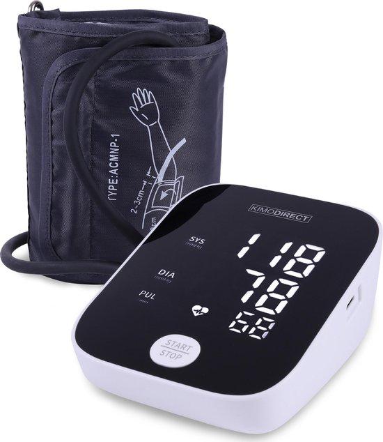 KIMO DIRECT Bloeddrukmeter - Automatisch - Bloeddrukmeter Bovenarm - Hartslagmeter - Nauwkeurige Meting - Groot Scherm