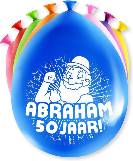 Abraham Ballonnen 50 Jaar 30cm 8st