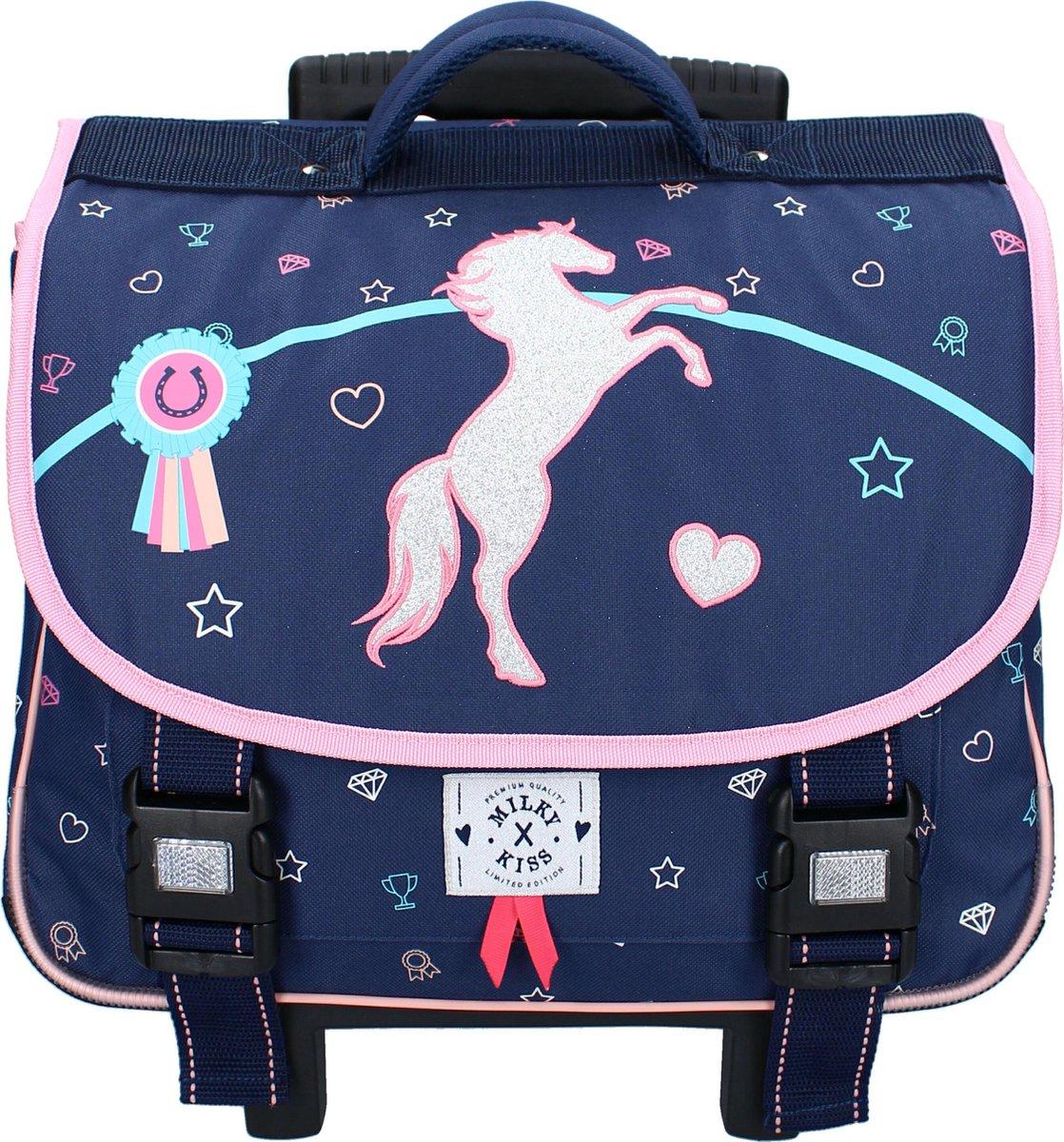 Milky Kiss Live Love Ride Schoolrugzaktrolley - 17,7 L - Navy Blauw
