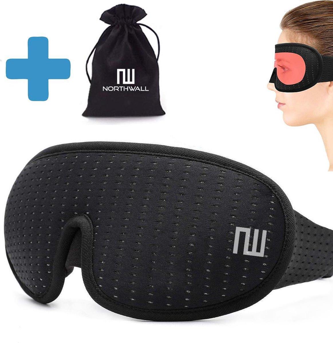 Slaapmasker Luxe -  100% Verduisterend - 3D Traagschuim - met Opbergzakje