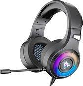 J-ANKKA F2  RGB over-ear koptelefoons - gaming headset met microfoon voor PS4/PS5 laptops xbox one - Zwart