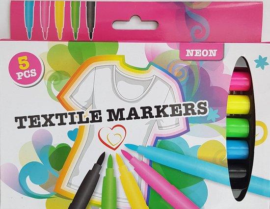 Afbeelding van Textiel Stiften / Neon Textile Markers