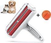 JUST23 Huisdierhaar Verwijderaar - Ontpluizer - Pluizenverwijderaar - pluizenborstel - Incl. hondenspeelgoed
