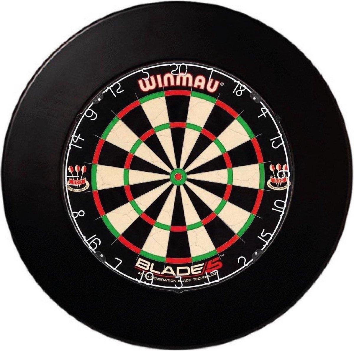 Winmau Blade 5 - Plus Surround Ring Zwart - Complete dartset