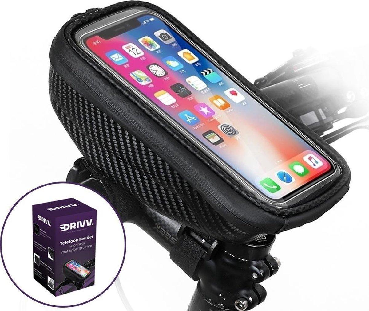 Telefoonhouder Fiets Waterdicht  - Fietshouder voor Smartphone - GSM Houder Fiets - Telefoonhouder M