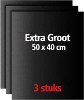 SWILIX ®  XL BBQ Mat - Herbruikbaar en Antikleef Grill Mat - 3 Stuks - 50 x 40