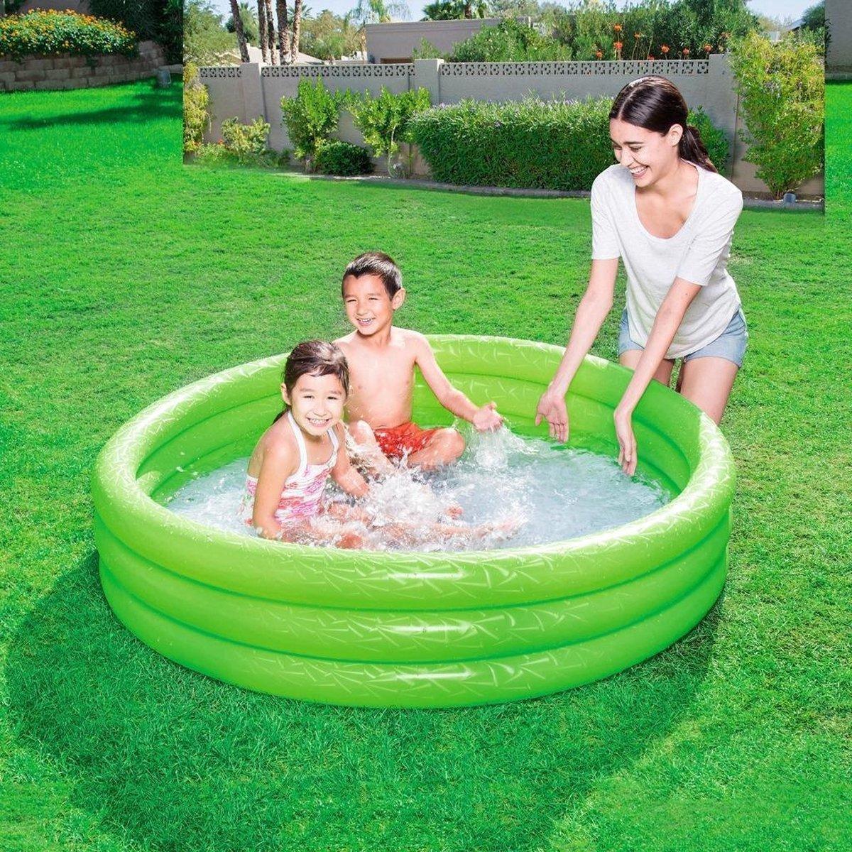 Zwembad rond voor Kinderen en Peuters van Bestway - Groen - 152 x 30 cm - Zwembadje Peuter - Zwembadje Kinderen - Zwembadje Opblaarbaar - Speelzwembad