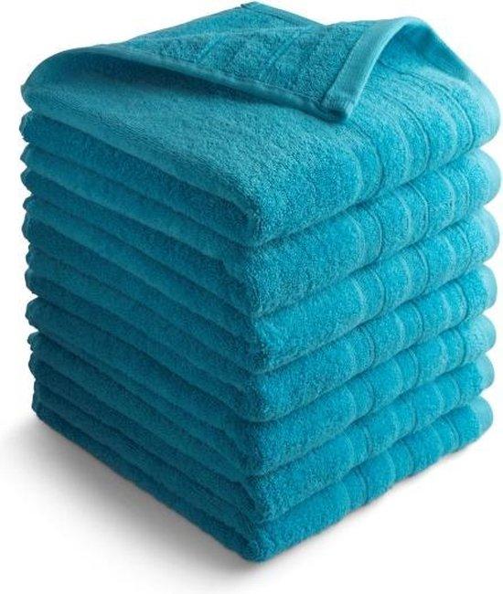 Seashell Luxor Hotel Handdoek - Turquoise blauw - 7 stuks - 50x100cm