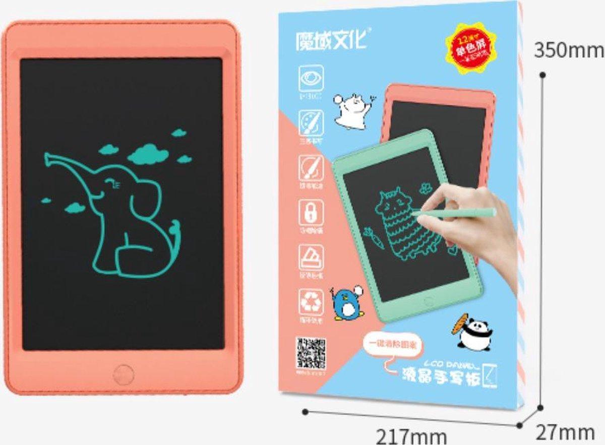 Kinderen LCD Tekenbord Tekentablet MOYU® - Grafische Tablet - Schrijftablet Ontwerppapier Schets Bord- Thuis Onderweg-Zonder Papier-1 Kleur- Meloen Oranje 12inch met 2 pens
