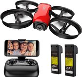 drones met camera for Volwassenen - ZINAPS U61W Kids' Drone, RC Quadcopter met HD WiFi FPV Camera, Altitude Hold, Route Making, Headless Mode, One-Button Start / Landing, Emergency Off