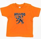 T-shirt oranje Holland met leeuw baby| EK Voetbal 2020 2021 | Nederlands elftal babyshirt | Nederland supporter | Holland souvenir | Maat 104