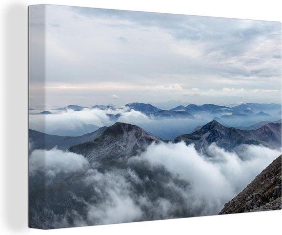Mooie wolken gezien vanaf de Ben Nevis Canvas 30x20 cm - klein - Foto print op Canvas schilderij (Wanddecoratie woonkamer / slaapkamer)