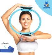 Fox Goods Pilates Ring - Yoga Ring - Sport Ring - Fitness Ring - Yoga Oefeningen - Blauw - 38CM - Gratis Resistance Band