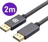 Displayport 1.4 Kabel 2 Meter - Displayport naar Displayport - Ondersteund 4K 60HZ / 2K 144HZ