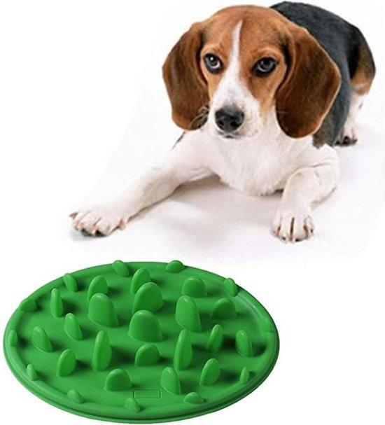 Anti Schrokbak Hond | Kat | Voermat | Voerbak Hond | Slow Feeder | Groen