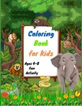 Coloring Book for Kids Ages 4-8 Fun Activity