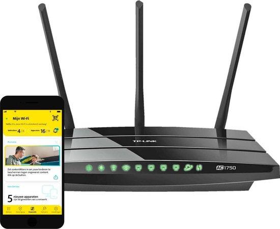 TP-Link Archer C7 met Wi-Fi Management en Ouderlijk Toezicht – Smart Home Gamgee Router + App - Zwart