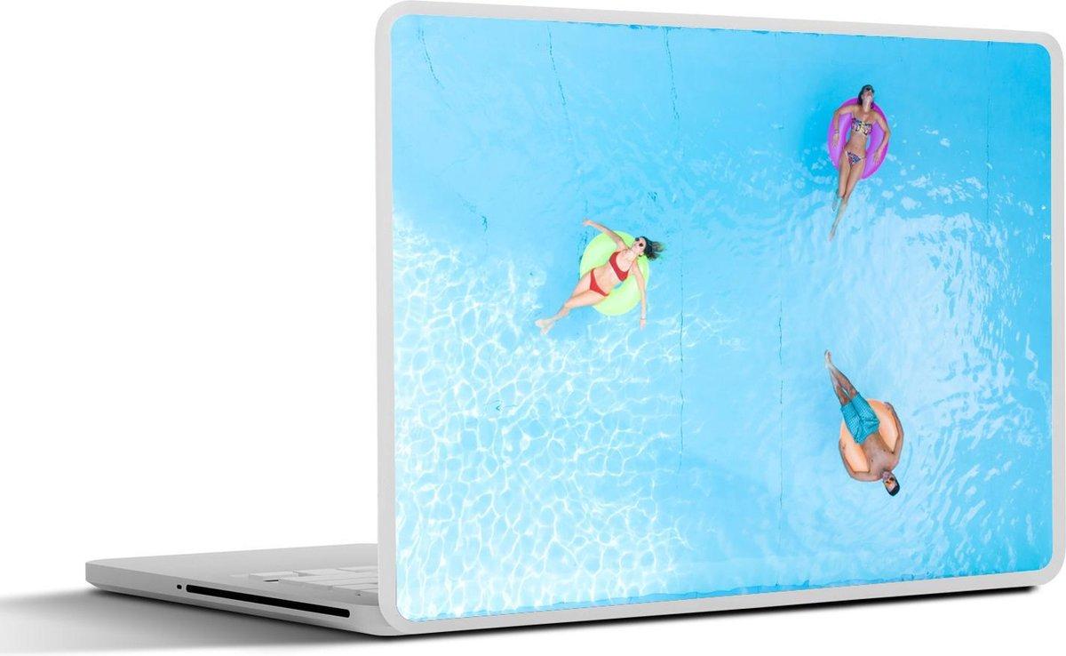 Laptop sticker - 17.3 inch - Zomer - Water - Zwemband