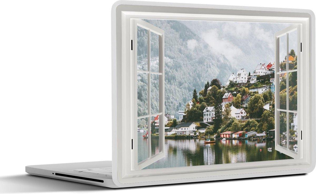 Laptop sticker - 12.3 inch - Doorkijk - Water - Winter
