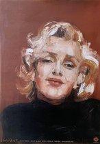 SAM Bult art - Poster - Marilyn Monroe - 42x60 cm - Poster Zonder Lijst - Goud - Print van Origineel Kunstwerk - Woonkamer - Design - Wooninrichting -  Betaalbare Kunst