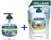 Palmolive Aquarium handzeep 300ml pomp + navulling 500ml