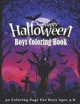 Happy Halloween Boys Coloring Book