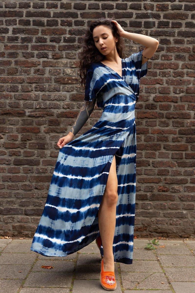 Sankalpa Maxi jurk dames - Ibiza Style - Bohemian lange jurk - Wikkeljurk Havanna - One size S/M/L