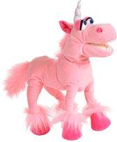 Living puppets handpop Roze eenhoorn buikspreekpop kinderfeestje