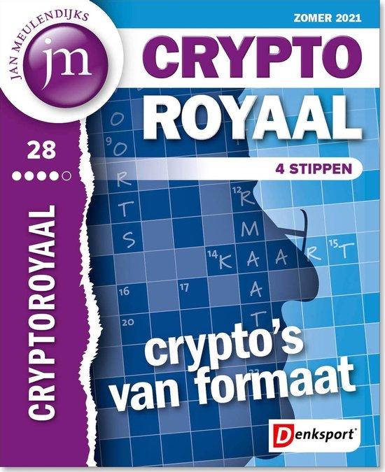 Afbeelding van Denksport Jan Meulendijks puzzelboek JM CryptoRoyaal editie 28